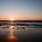 Sunset in April along the Dutch coast by Rob Schoon
