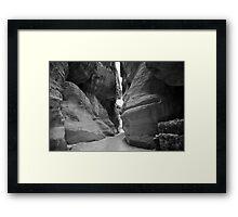 black and white rose rock Framed Print