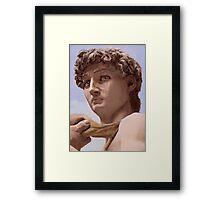 David after Michelangelo Framed Print
