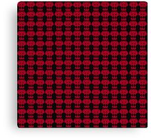 Hiccup Skull logo - Red&Black Canvas Print