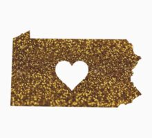 Gold Glitter Pennsylvania by shayes15