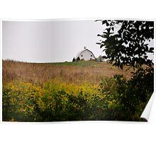 September Morning Farm Scene Poster