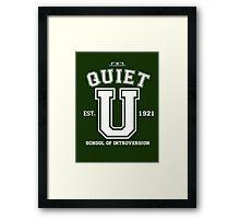 """Quiet U"" Framed Print"