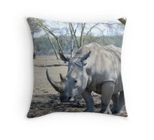 Rhino - Lake Nakuru, Kenya Throw Pillow