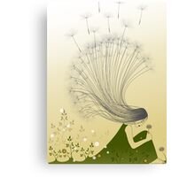 * the girl with dandelion hair * Canvas Print