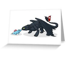Toothless & Totodile Greeting Card