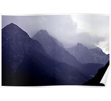 Alps, Austria in Mist Poster