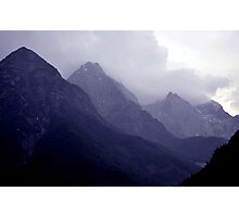 Alps, Austria in Mist Photographic Print