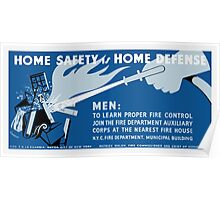 Home Safety Is Home Defense -- WPA Poster