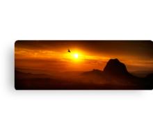 Steamy Sunset Canvas Print