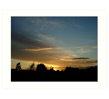 Summer Sunset in a London Suburb (1) Art Print