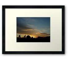 Summer Sunset in a London Suburb (1) Framed Print