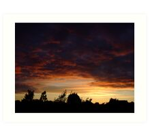 Summer Sunset in a London Suburb (2) Art Print