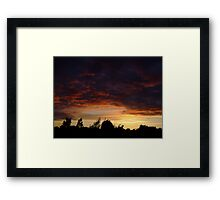 Summer Sunset in a London Suburb (2) Framed Print