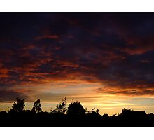 Summer Sunset in a London Suburb (2) Photographic Print