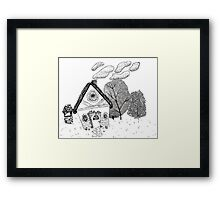 Home in Black and White Framed Print