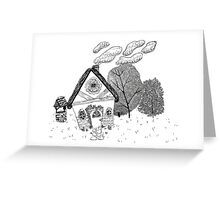 Home in Black and White Greeting Card