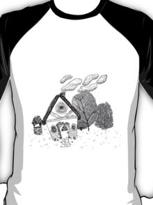 Home in Black and White T-Shirt