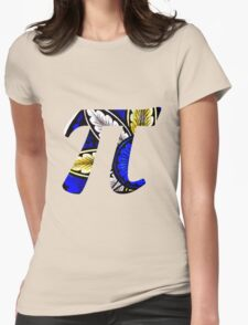 Stained Glass Pi 1 Womens Fitted T-Shirt
