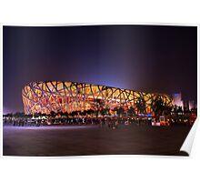 Beijing's Bird Nest Stadium - South side Poster