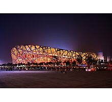 Beijing's Bird Nest Stadium - South side Photographic Print