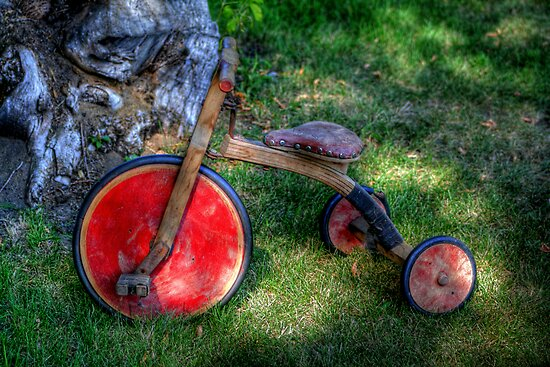 Old Wooden Trike by Larry Trupp