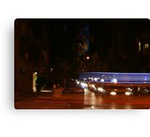 Taxi with Blur Canvas Print