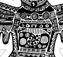 Aztec Eagle Sticker