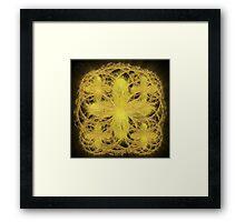 ©DA Circles Of Gold III Fractal Framed Print