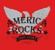 America Rocks One Piece - Short Sleeve