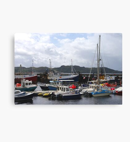 The Fishing Harbour Canvas Print