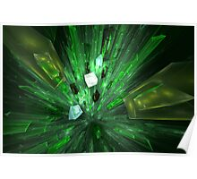 Shattering Green Glass Poster