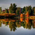 Autumn on Lake Devonian by Larry Trupp