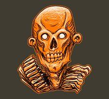 Zombie Skull Head Orange Unisex T-Shirt