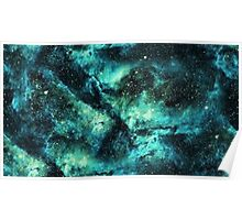 Blue and Green Galaxy  Poster