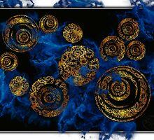 ©DA Gold Circles Of Fractal II by OmarHernandez
