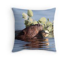 Busy as a Beaver Throw Pillow