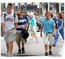 Eighth graders out and about on 5th ave in NYC Poster