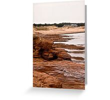 Rocks at Cavendish Beach, PEI, Canada Greeting Card