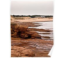 Rocks at Cavendish Beach, PEI, Canada Poster