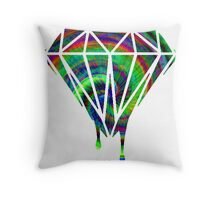 Diamond drip spiral Throw Pillow