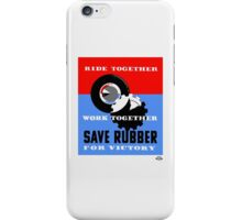 Save Rubber For Victory -- WPA iPhone Case/Skin