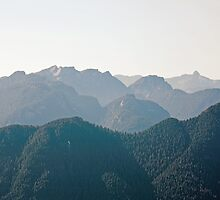 peaks of the North Shore, North Vancouver by Christopher Barton