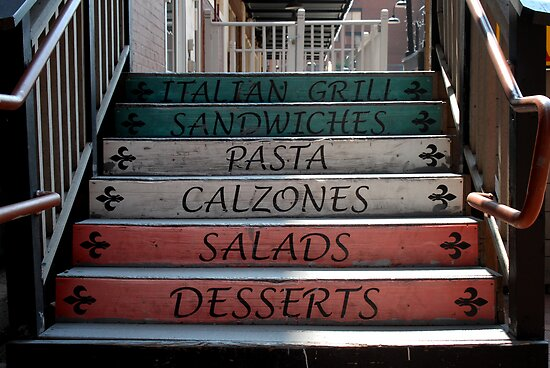 Restaurant Steps by Colleen Drew
