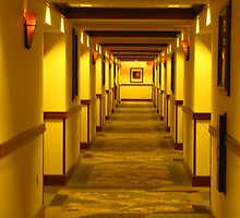 Three Rivers Casino Hotel Hallway by scenebyawoman