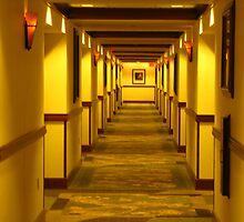 Three Rivers Casino Hotel Hallway by scenebyawoman