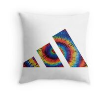 Adidas psychedelic Throw Pillow