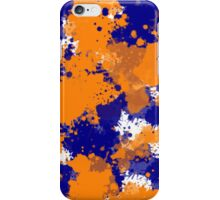 Orange & Navy Splatter iPhone Case/Skin