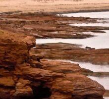 Rocks at Cavendish Beach, PEI, Canada Sticker