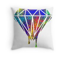 Diamond drip splash Throw Pillow